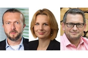 Tomáš Bělohoubek, Jana Hrabětová a Tomáš Brych, management společnosti E.ON