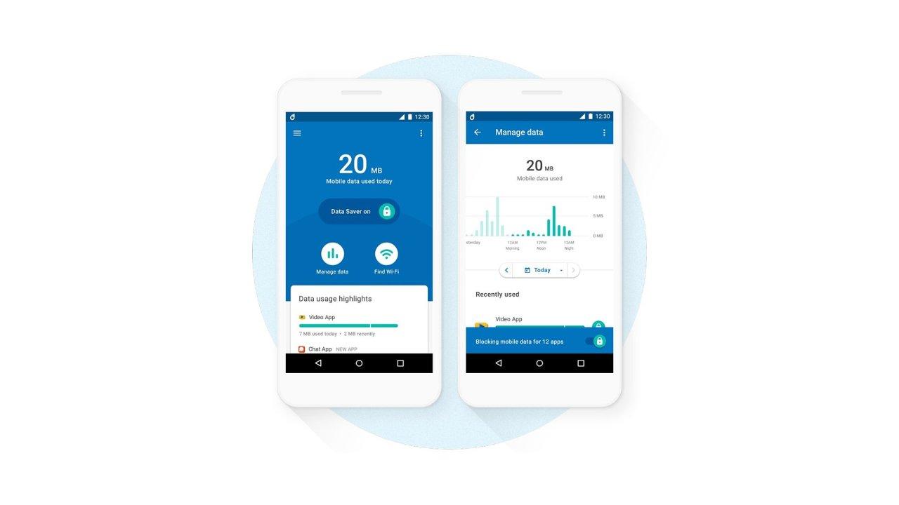 Aplikace pro kontrolu mobilních dat Google Datally