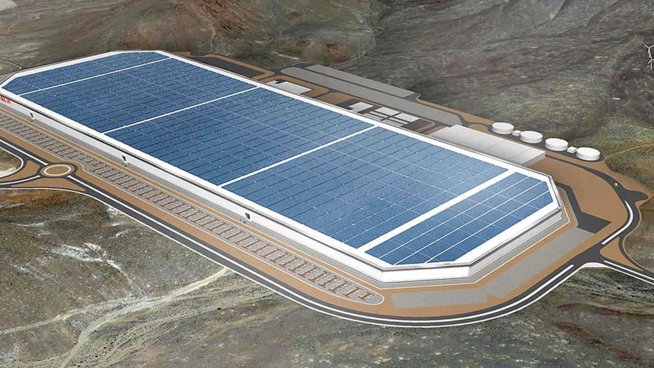 Továrna Gigafactory 1 produkuje akumulátory pro vozy Tesla. Podobná by v budoucnu i díky investičním pobídkám mohla vzniknout v Česku.