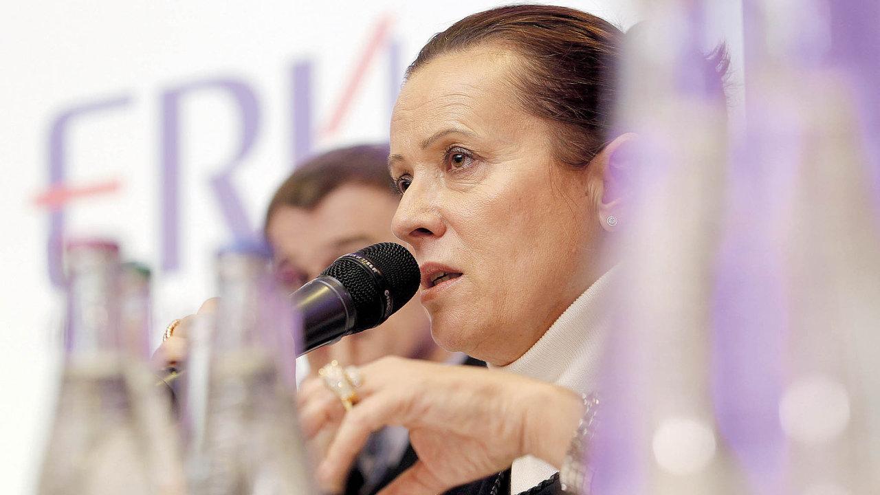 Alena Vitásková končí ve funkci předsedkyně Energetického regulačního úřadu.