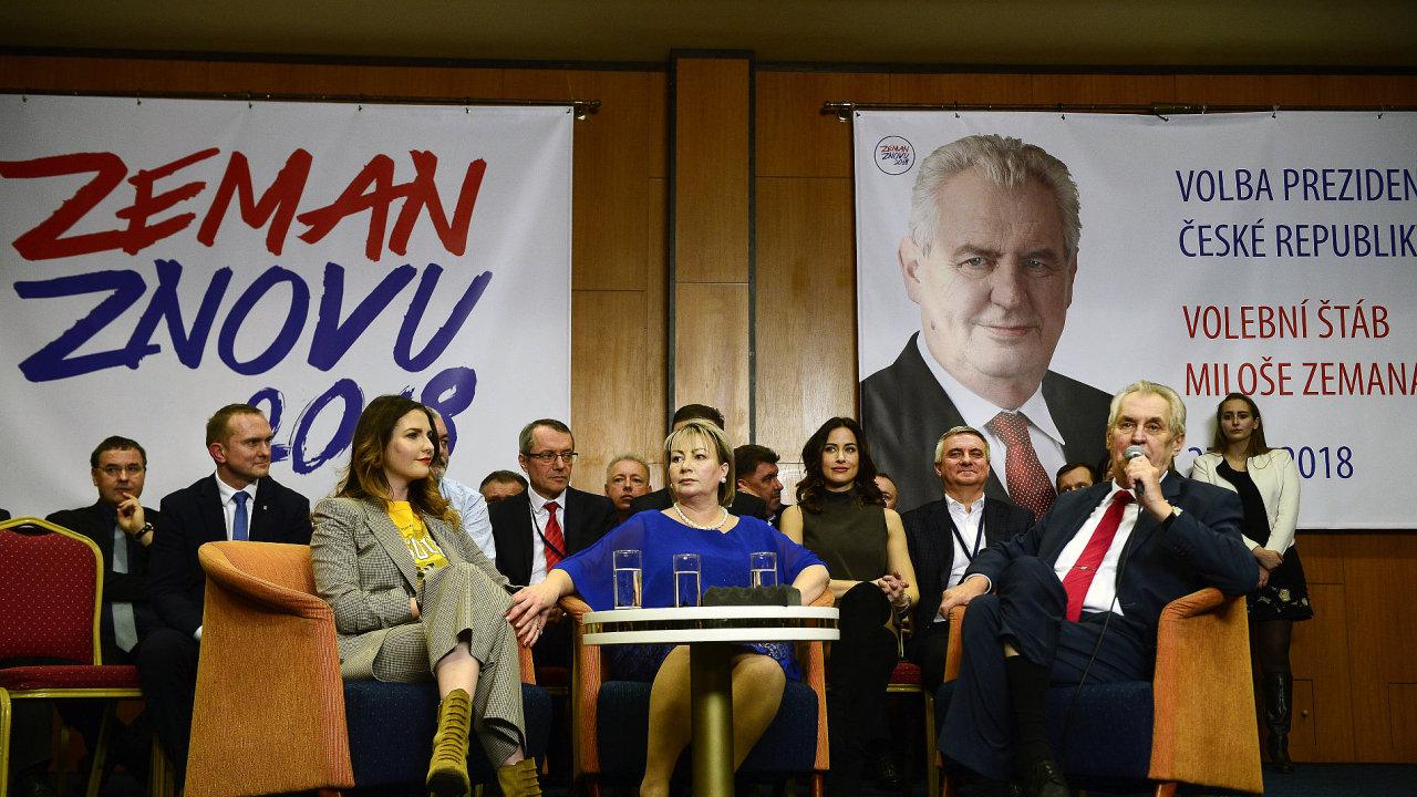 Prezident Miloš Zeman po svém znovuzvolení…