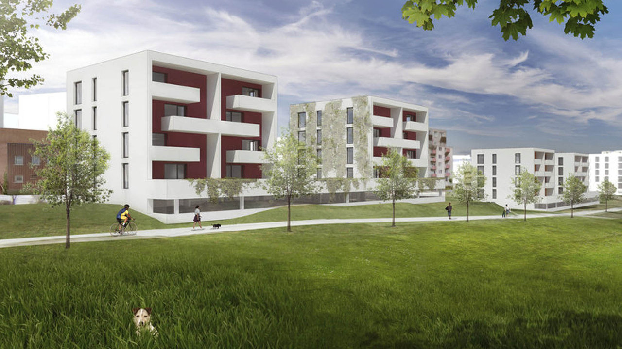 Takto by měly vypadat domy s dostupným bydlením na pražském Černém Mostě.