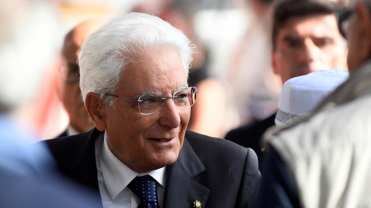 Důležité rozhodnutí: Klíčové slovo ohledně dalšího vývoje bude mít italský prezident Sergio Mattarella.