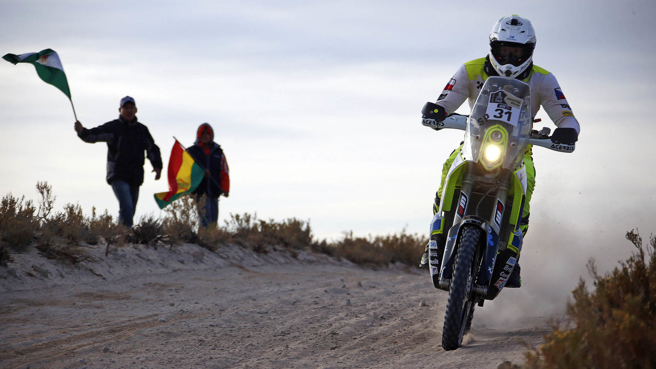 Motocyklový závodník Ondřej Klymčiw