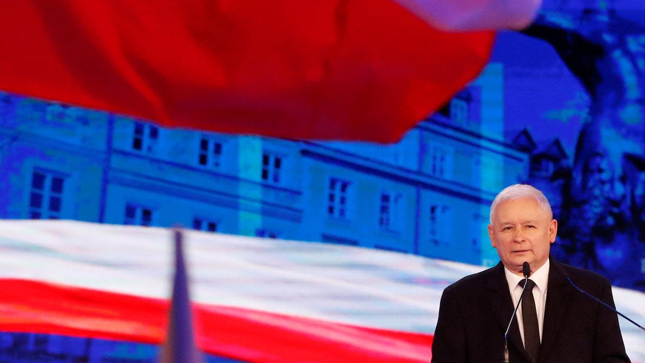 Předseda vládnoucí strany Právo a spravedlnost Jarosław Kaczyński.