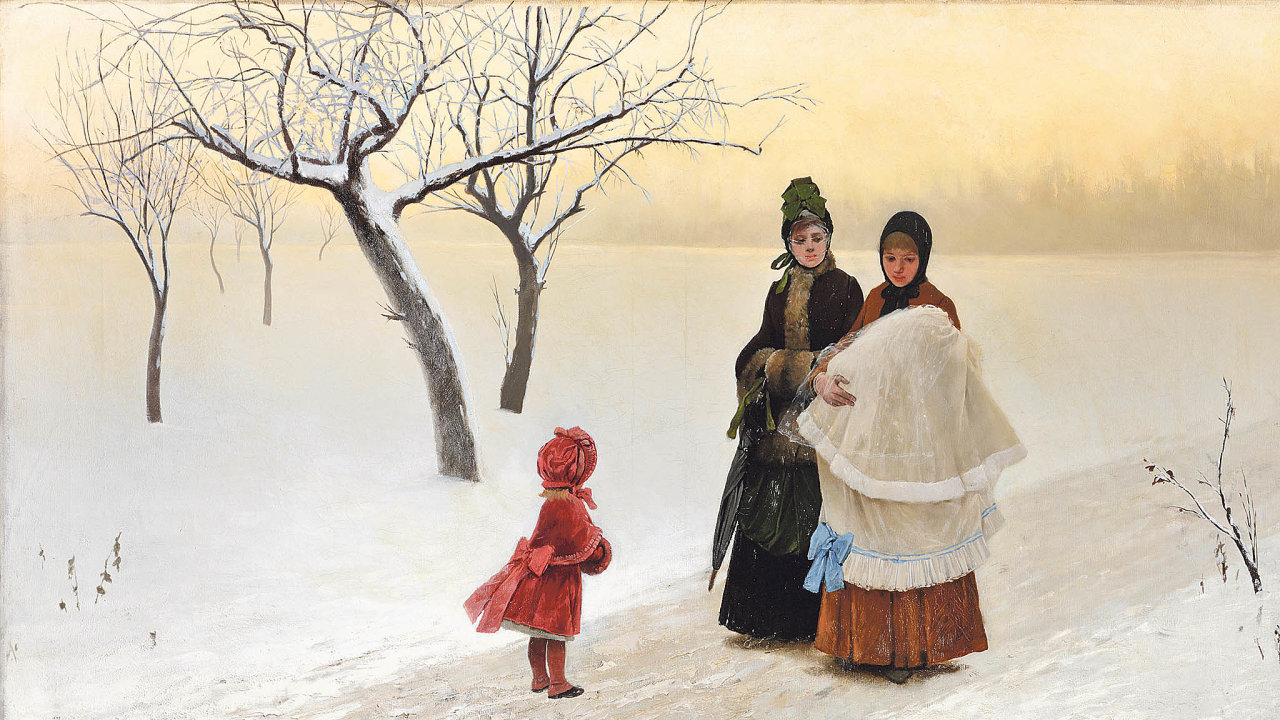 Zimní květ (1887) půjde do aukce.
