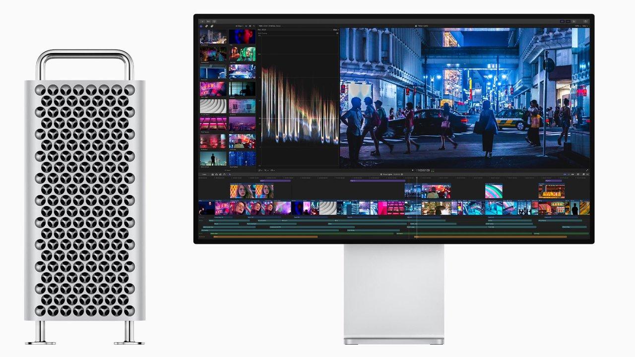 Nový Mac Pro vypadá jako kovový monolit, dá se ale snadno otevřít a komponenty uvnitř lze povyměňovat podle potřeby majitele.