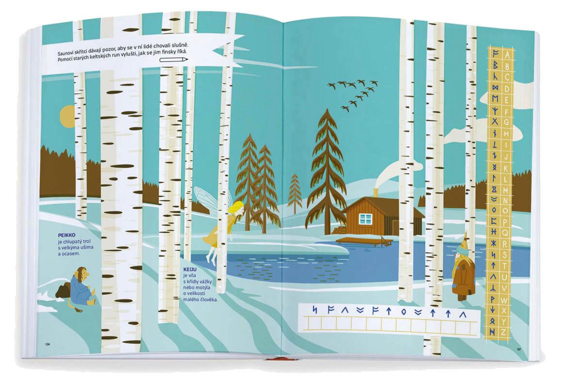 Knihu navýlety tvoří interaktivní ilustrované reportáže zcest poEvropě, tak jak je zaznamenali během pěti let táta – zakladatel nakladatelství Labyrint Joachim Dvořák – se svou malou dcerou.
