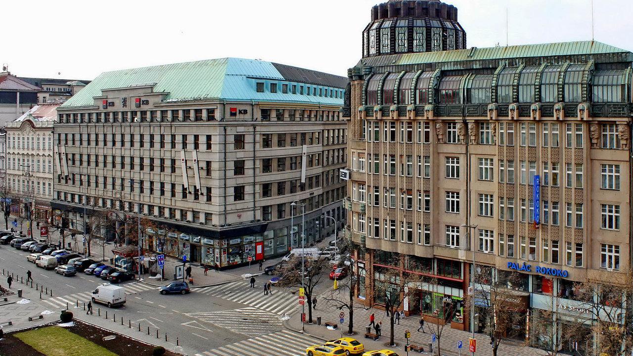 V budově Komerční banky na rohu Václavského náměstí a Štěpánské má nově sídlit Česká obchodní inspekce.