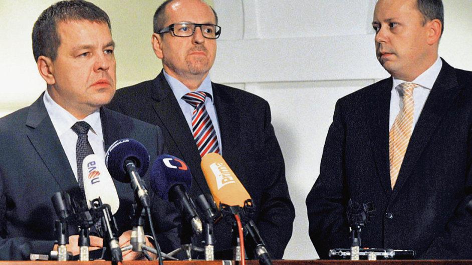 Bývalí poslanci za ODS Petr Tluchoř, Ivan Fuksa a Marek Šnajdr (ilustrační foto).