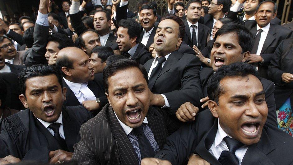 Stávka právníků Bangladéšské Nacionalistické strany