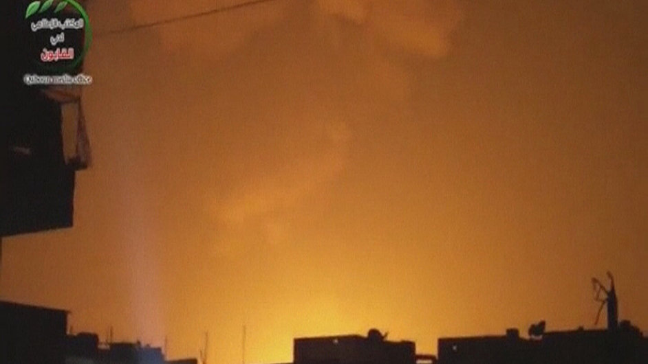 Situace krátce po výbuchu v centru Damašku