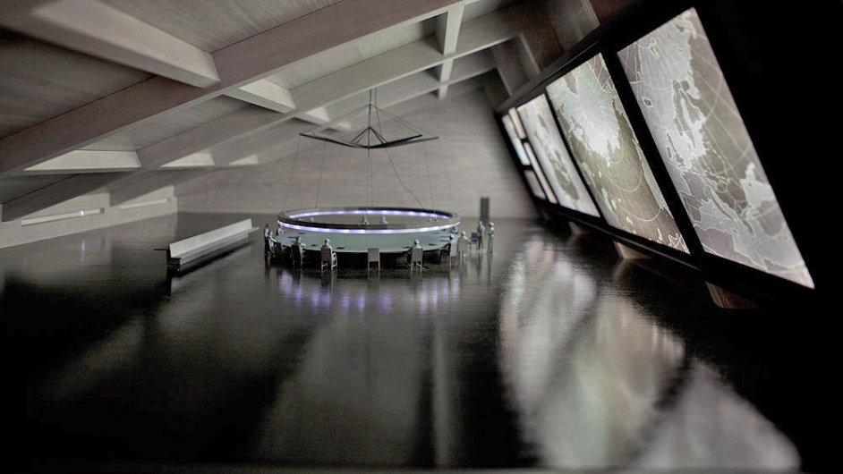 Na výstavě je i válečná místnost z Kubrickova filmu Dr. Divnoláska.
