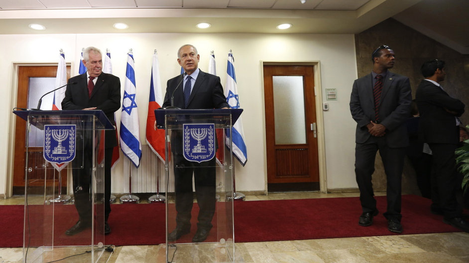 Prezident Miloš Zeman a izraelský premiér Benjamin Netanjahu.