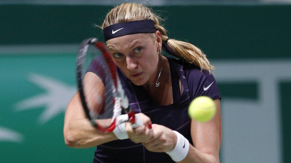 Petra Kvitová v utkání se Serenou Williamsovou na Turnaji mistryň