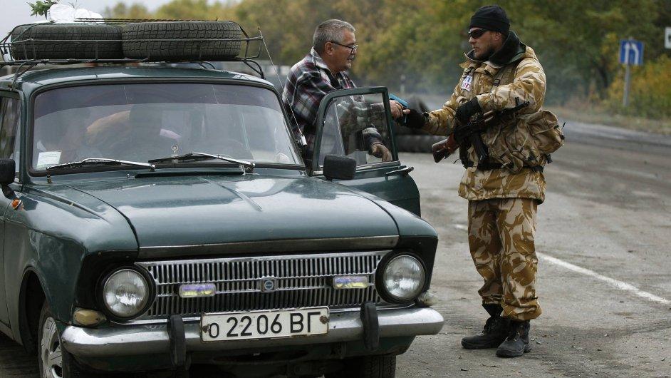 Kontrola na checkpointu u Debalceve