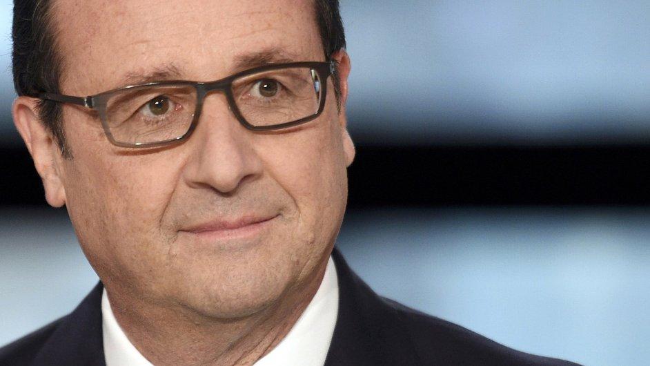Francois Hollande ve francouzské televizi
