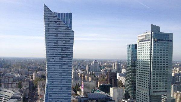 Budovy Skylight & Lumen ve Varšavě, které vlastní Globalworth Real Estate Investments.