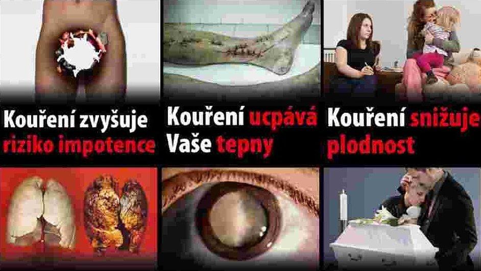 Návrhy na obrazové varování na obaly tabákových výrobků - cigarety, obaly cigaret, krabičky cigaret