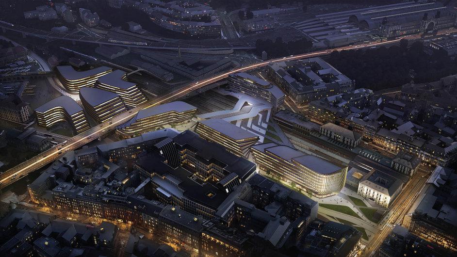 Okolí Masarykova nádraží se během příštích sedmi let změní.