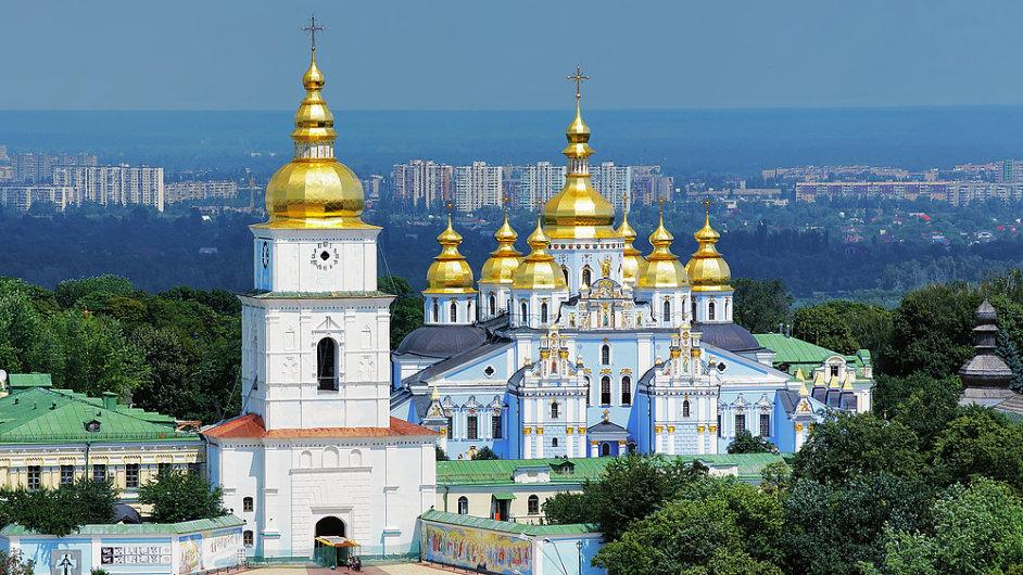 Hlavní město Ukrajiny Kyjev.