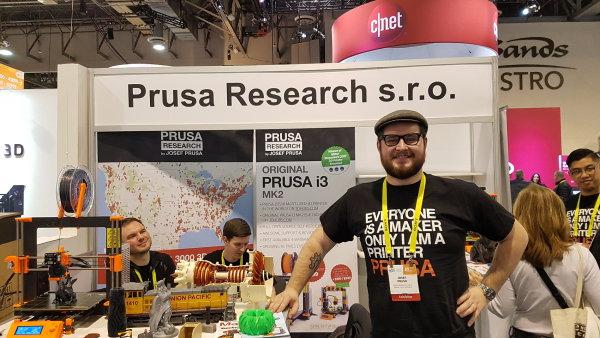 Josef Průša na veletrhu CES v Las Vegas.