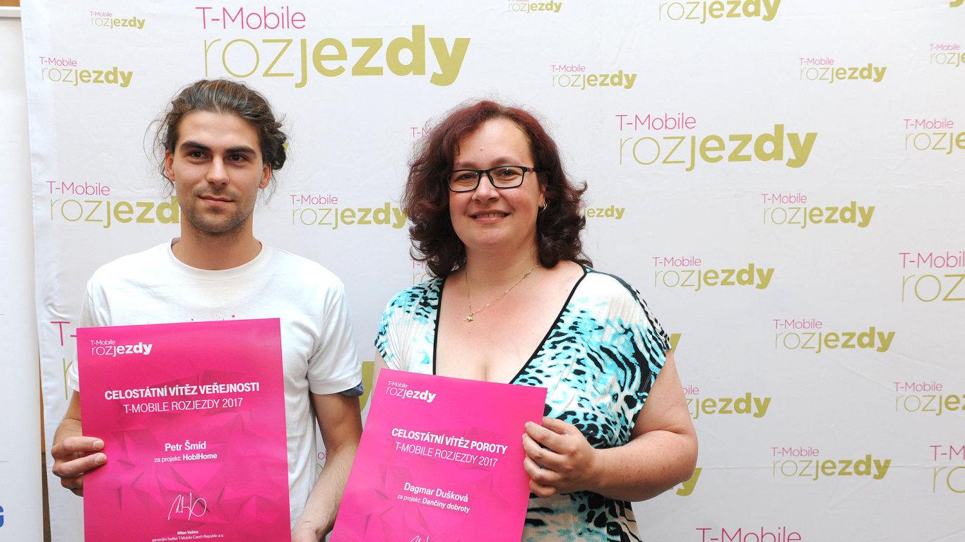 Vítězové T-Mobile Rozjezdy Petr Šmíd a Dagmar Dušková