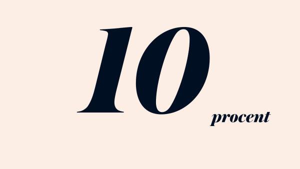 10 procent