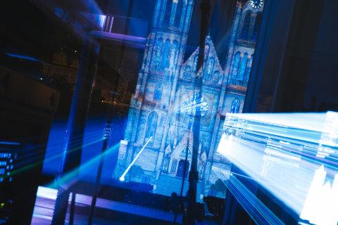 Z předchozího ročníku pražského festivalu světla Signal