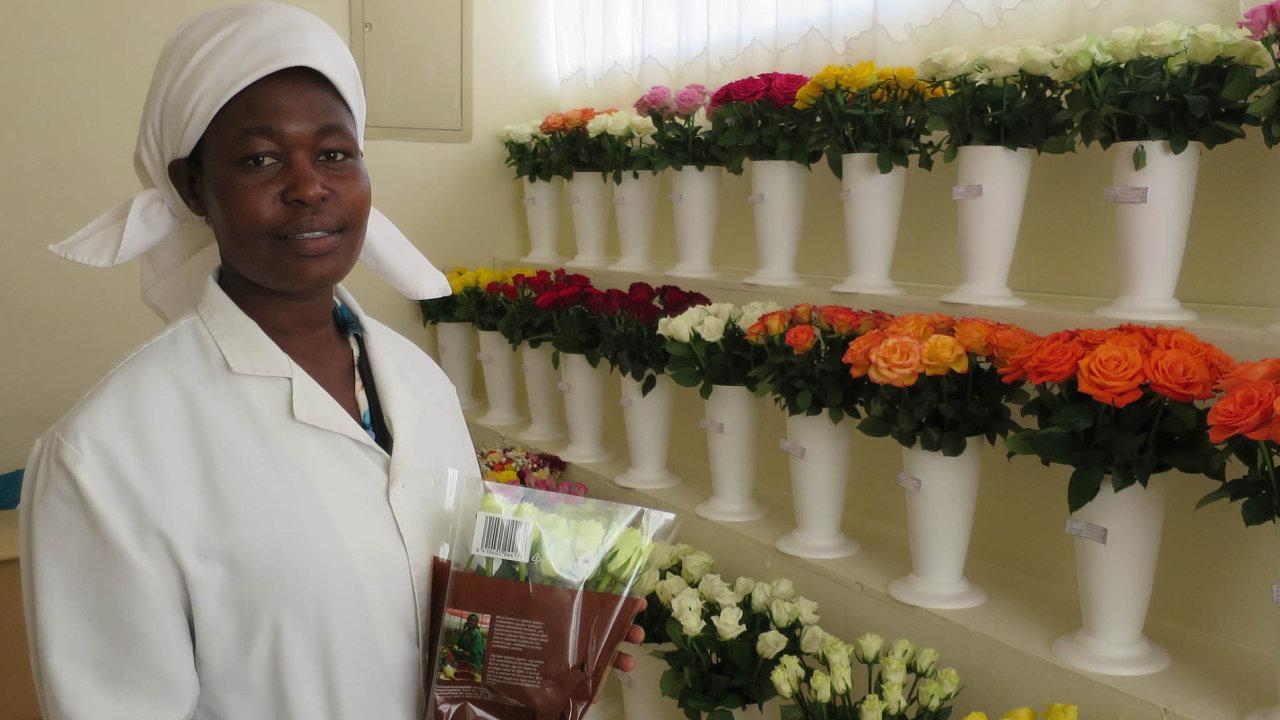 Stačí vyfotit mobilním telefonem a růže z Keni najdou za několik minut svého kupce na květinové burze v Amsterdamu.