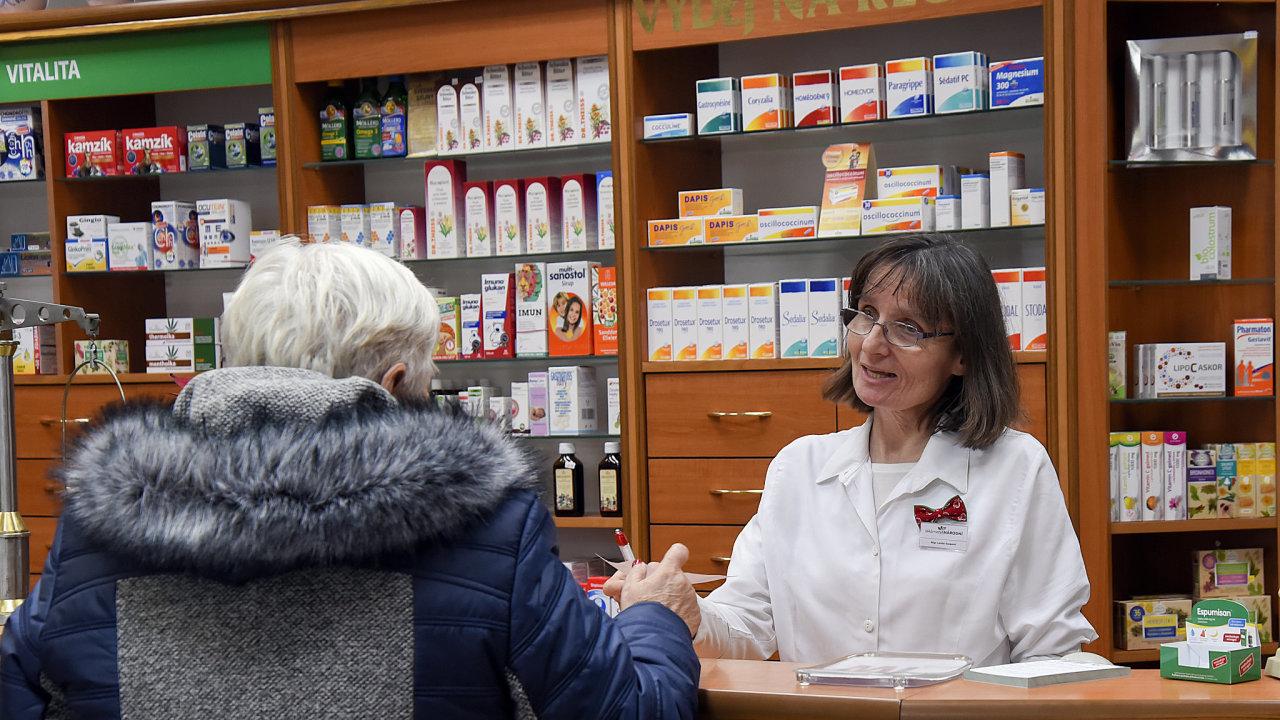 Lékárna v centru Havířova. 8.1.2018  Foto Petr Dohnal