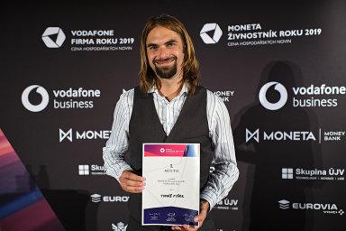 Tomáš Fišer se stal ve čtvrtek vítězem soutěže Moneta Živnostník roku Karlovarského kraje.