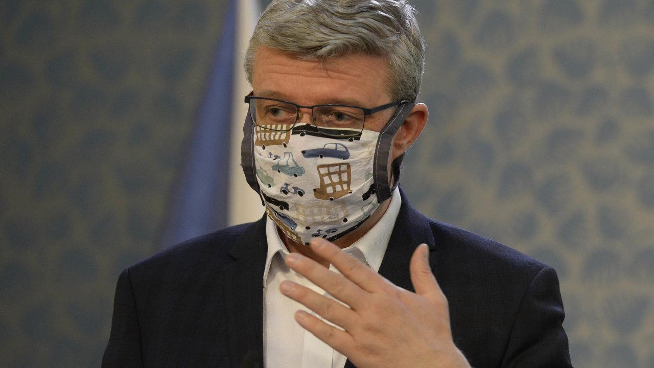 Ministr průmyslu a obchodu, dnes i dopravy – Karel Havlíček – odmítá připustit, že by stát poskytoval podnikatelům nedostatečnou pomoc.