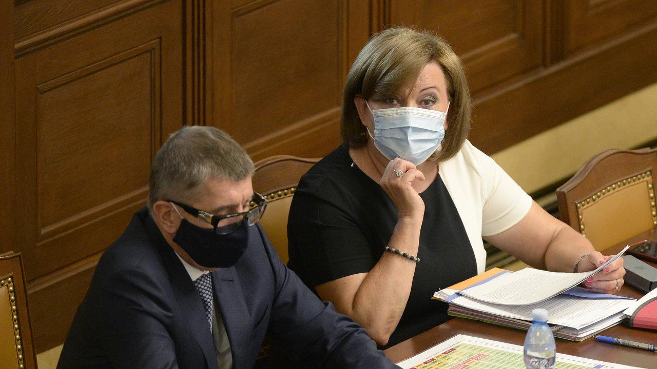 Ministryně financí Alena Schillerová připravila letos už třetí verzi státního rozpočtu. Původně měl být schodek 40 miliard korun, nyní se počítá s 500 miliardami.