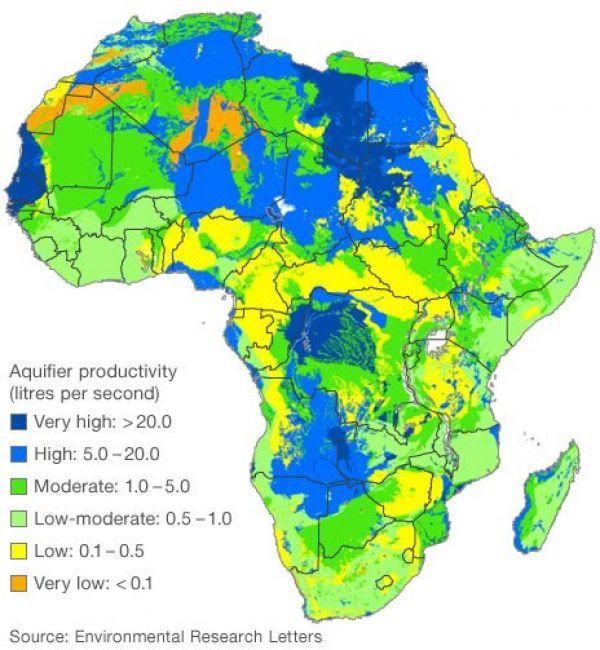 Vědci našli zásoby vody pod Afrikou.