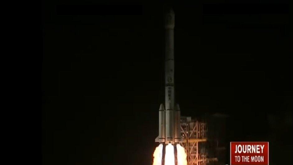 Start první čínské mise na měsíc