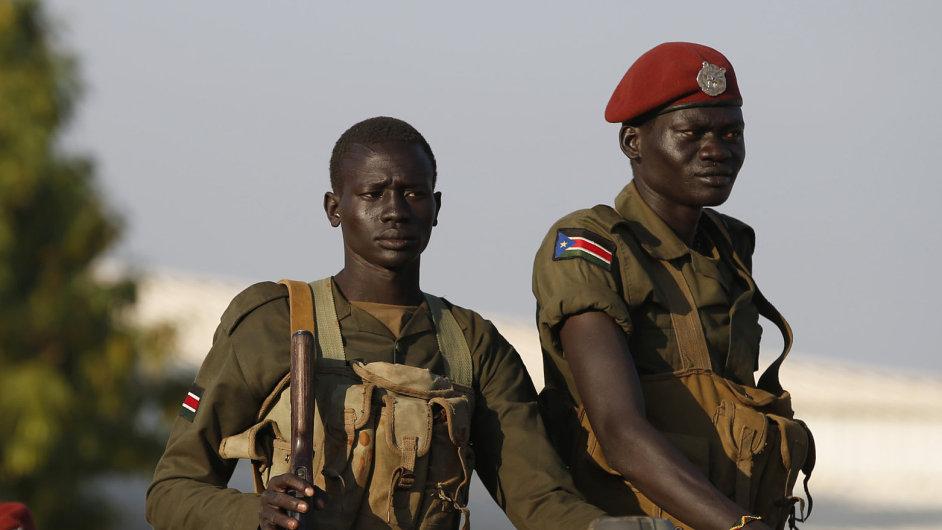 Vojáci SPLA v Jižním Súdánu