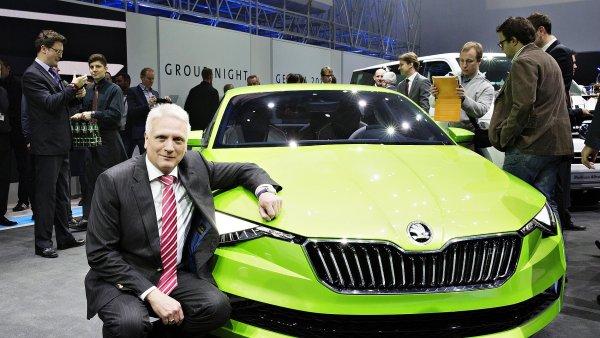 Winfried Vahland pøedstavil v Ženevì designovou studii Škoda Vision C.