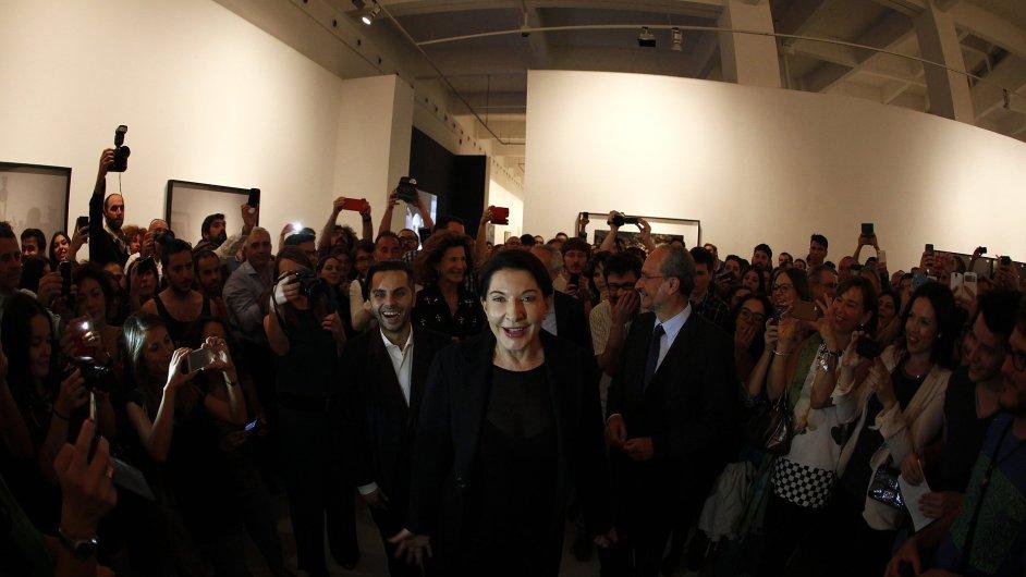 Zahájení výstavy Mariny Abramovic v Malaze, 23. května