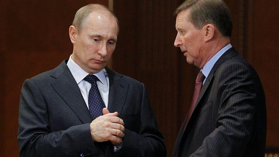 Vladimír Putin a Sergej Ivanov
