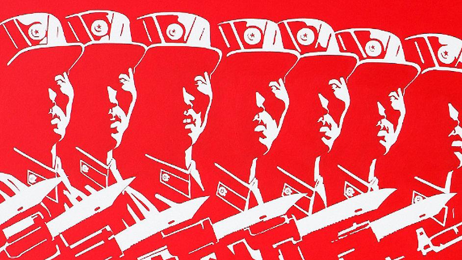 Jedno z nejnovějších děl severokorejského umělce Sun Mua