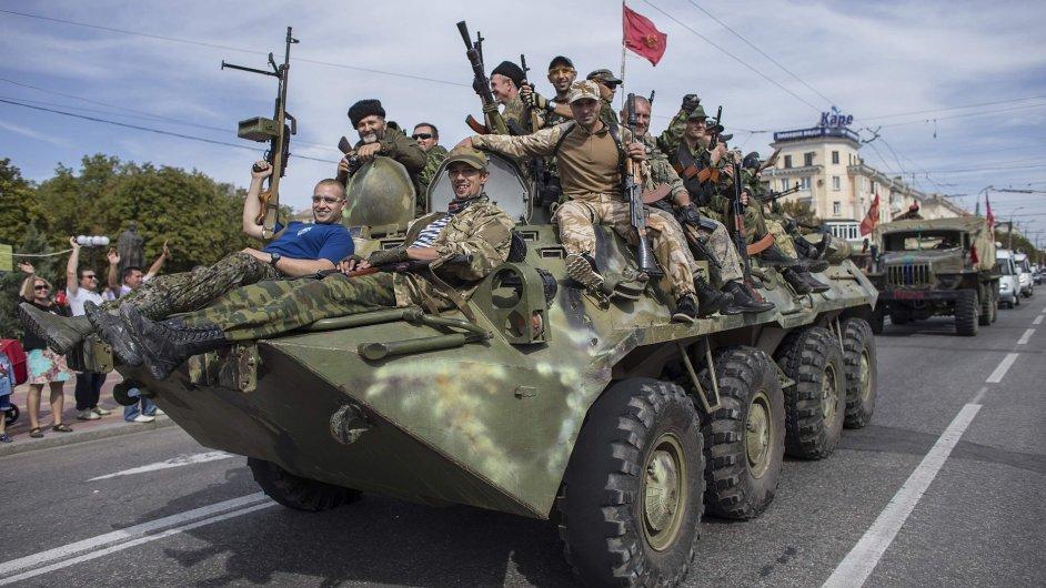 Separatisté v Luhansku na východě Ukrajiny