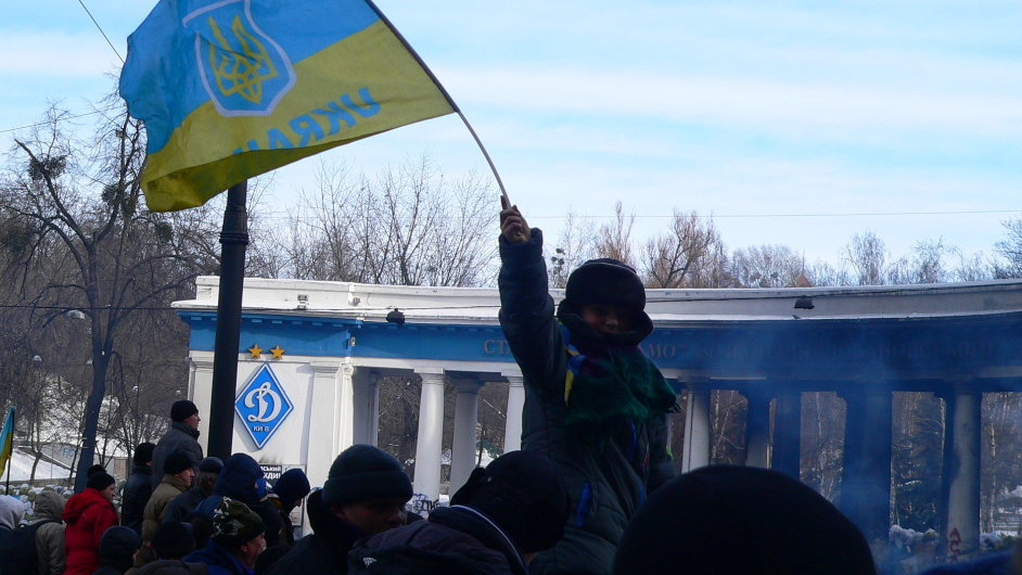 Protesty na Majdanu v Kyjevě