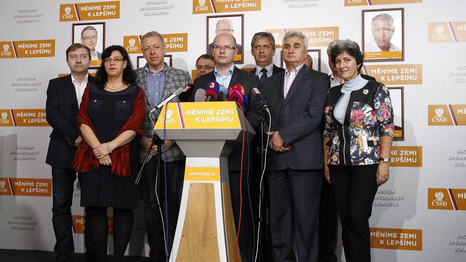 Sociální demokracie ve volebním štábu