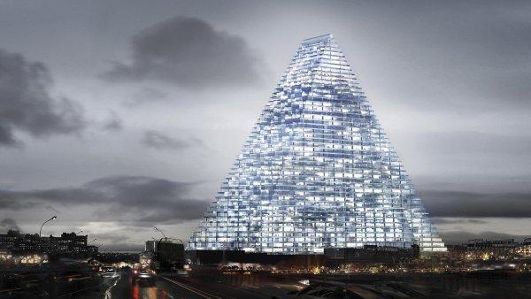 Triangl tower v Paříži podle návrhu architektonického studia Herzog & de Meuron.