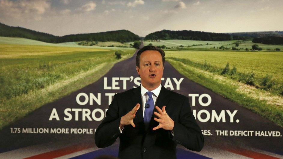 Britský premiér na snímku z 2. ledna 2014