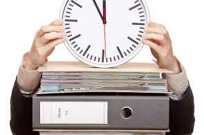 Pracovní doba - ilustrace