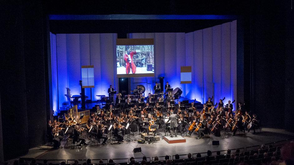 Snímek ze středečního uvedení Mapy skladatele Tan Duna v podání Filharmonie Brno.