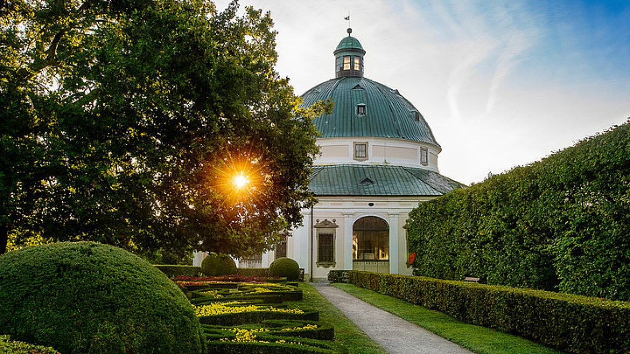 Květná zahrada kroměřížského zámku.