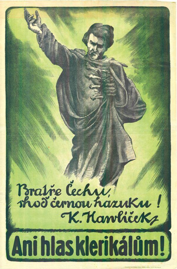 Plakát hnutí Volná myšlenka, začátek 20. století